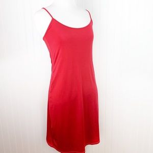 Trina Turk red slip dress